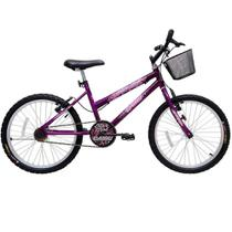Bicicleta cairu 20 star girl c/cestao violeta -