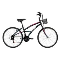 Bicicleta Caloi 100 Aro 26 - Feminino - Quadro Alumínio - 21 Velocidades - Preto -