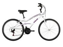 Bicicleta Caloi 100/Branca Aro 26 21 Marchas - Alumínio com Freios V-brake