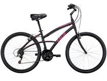 Bicicleta Caloi 300 Mobilidade Floral Fem. Aro 26 - 21 Marchas Quadro 16 em Alumínio Freios V-brake
