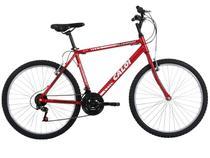 Bicicleta Caloi Aluminum Vermelha Aro 26 - 21 Marchas com Quadro de Alumínio Freio V-brake