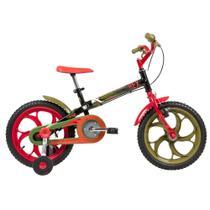 Bicicleta Caloi Aro 16 Infantil Power Rex com Rodinhas (11924) -