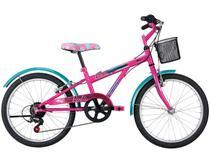 Bicicleta Caloi Barbie Preto Fosco Aro 20 - 7 Marcha