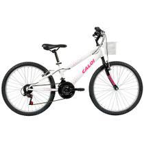 Bicicleta Caloi Ceci 2017, Aro 24, Quadro em Aço, com Cesto, Branca -