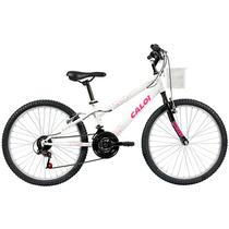 Bicicleta caloi ceci aro 24 21v branca perolizado -