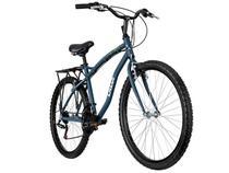 Bicicleta Caloi City Aro 26 21 Marchas - Freio V-Brake Quadro Alumínio e Bagageiro