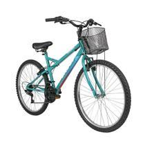Bicicleta Caloi Florença Aro 26 Cesto Freio V-Brake  21 Vel -