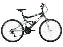 Bicicleta Caloi KS Full Suspension Aro 26  - 21 Machas Quadro de Alumínio Freio V-brake