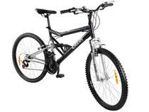 Bicicleta Caloi KS Mountain Bike Aro 26 21 Marchas - Full Suspension Quadro Alumínio Freio V-brake