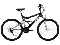 Bicicleta Caloi Mountain Bike SK Aro 26 Aluminio  - 21 Marchas Full Suspension Câmbio Shimano
