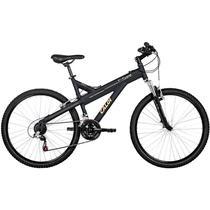 Bicicleta caloi t-type 21v aluminio preto fosco -