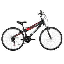Bicicleta Caloi TRS Aro 26 21 Marchas, Suspensão Dianteira, Preta -