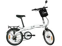 Bicicleta Caloi Urbe Aro 20 7 Marchas  - Câmbio Shimano Quadro Alumínio Freio V-brake