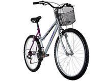 Bicicleta Caloi Ventura Aro 26 21 Marchas  - com Cesto Frontal