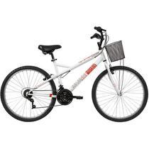 Bicicleta Caloi Ventura com Cesta, Aro 26, 21 Marchas, Branca - 004291.19001 -