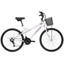 Bicicleta Caloi Ventura Feminino Alumínio 21V Aro 26 Branco -