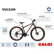 Bicicleta Caloi Vulcan Masculino 21V Aro 29 Preto -
