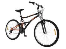 Bicicleta Caloi XRT Mountain Bike Aro 26  - 21 Marchas Full Suspension Freio V-brake