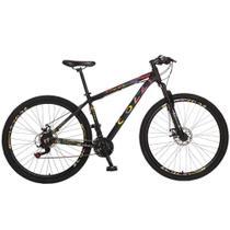 Bicicleta Colli 531 Aro 29 Shimano 21V Suspensão Freio a Disco Quadro 18 Alumínio Preto - Colli Bike -