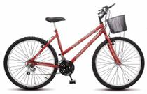 Bicicleta Colli Allegra City Vermelho Aro 26 18 Marchas Freios V-Break -