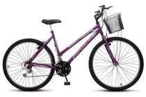Bicicleta Colli Allegra City Violeta Aro 26 18 Marchas Freios V-Break -