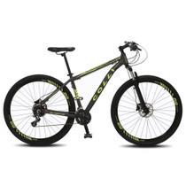 Bicicleta Colli Atalanta Aro 29 em Alumínio Freio a disco e Câmbio Shimano - Grafite/Amarelo -