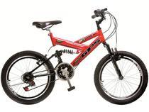 Bicicleta Colli Bike Aro 20 21 Marchas - Dupla Suspensão Quadro de Aço Freios V-brake