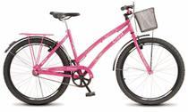 Bicicleta Colli Ciça Rosa Sem Marcha Aro 26 Freio V-Break -