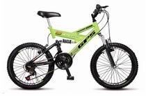 Bicicleta Colli  Dupla Susp. Amarelo Neon Aro 20 36 Raias Freios V-Brake -