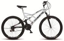 Bicicleta Colli Dupla Susp. Branco Aro 26 36 Raias 21 Marchas Freios v-Brake -