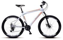 Bicicleta Colli Force One MTB Branco Kit Shimano 21 Marchas Aro 26 Aero Freios a Disco