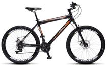 Bicicleta Colli Force One MTB Preto Kit Shimano 21 Marchas Aro 26 Aero Freios a Disco