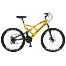 Bicicleta Colli Fulls GPS Freios a Disco Aro 26 Dupla Susp. 36 Raios 21 Marchas - 220.01D -