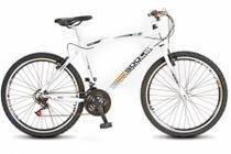 Bicicleta Colli MTB CB500 Branco Aro 26 36 Raias Freios V-Brake -
