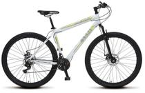 Bicicleta Colli MTB Force One Branco  Kit Shimano 21 Marchas Aro 29 Aero Freios a Disco