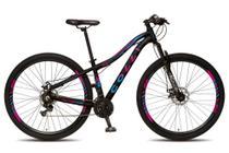 Bicicleta colli quadro em alumínio 21 marchas aro 29 freio a disco - kit shimano -
