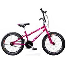 Bicicleta Cross BMX Aro 20 Ultra V Break Rosa Cromada - Giant