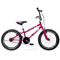 Bicicleta Cross Bmx Aro 20 Ultra V Break Rosa Cromada Giant