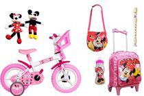 Bicicleta da Minnie Mouse  mochila De Rodinhas, bichinhos, garrafa 7 - Exp