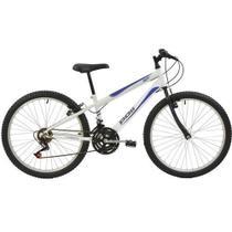 Bicicleta Delta MTB Aro 24 V-Brake Branca 18v - Polimet