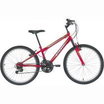 Bicicleta Delta MTB Aro 24 V-Brake Vermelha 18v - Polimet