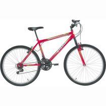Bicicleta Delta MTB Aro 26 V-Brake Vermelha 18v - Polimet