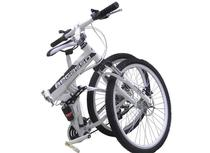 Bicicleta Dobravel 21 Marchas Shimano Aro 26 Freio Disco Amortecedor Bike Branca - Soldier