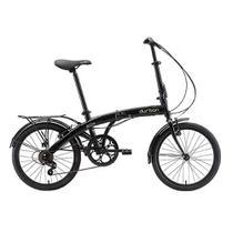 """Bicicleta Dobrável Aro 20"""" Com 6 Velocidades DURBAN Eco+ Preto -"""