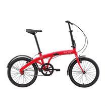 Bicicleta Dobrável Aro 20 Durban 720110 Eco 1 Marcha Vermelha -