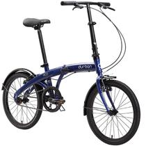 Bicicleta Dobrável Aro 20 e 1 Marcha Azul - Durban Eco -