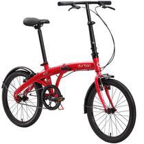 Bicicleta Dobrável Aro 20'' e 1 Marcha Vermelha - Durban Eco -