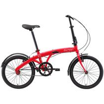 """Bicicleta Dobrável Aro 20"""" e 1 Marcha Vermelha - Durban Eco -"""