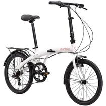 Bicicleta Dobrável Aro 20'' e 6 Marchas Branca - Durban Eco+ -