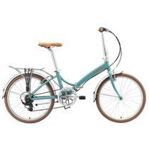 Bicicleta Dobrável Aro 20 e 6 Marchas Durban Rio XL Turquesa -